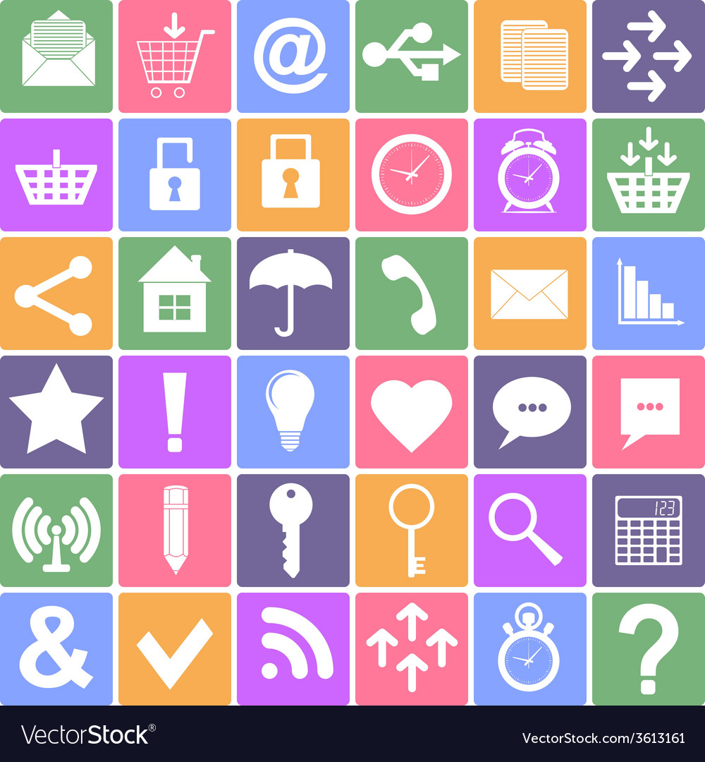 Basic icons set apps smartphone sign icon vector | Price: 1 Credit (USD $1)
