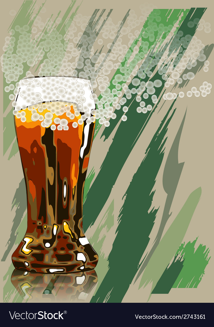 Beer and foam vector | Price: 1 Credit (USD $1)