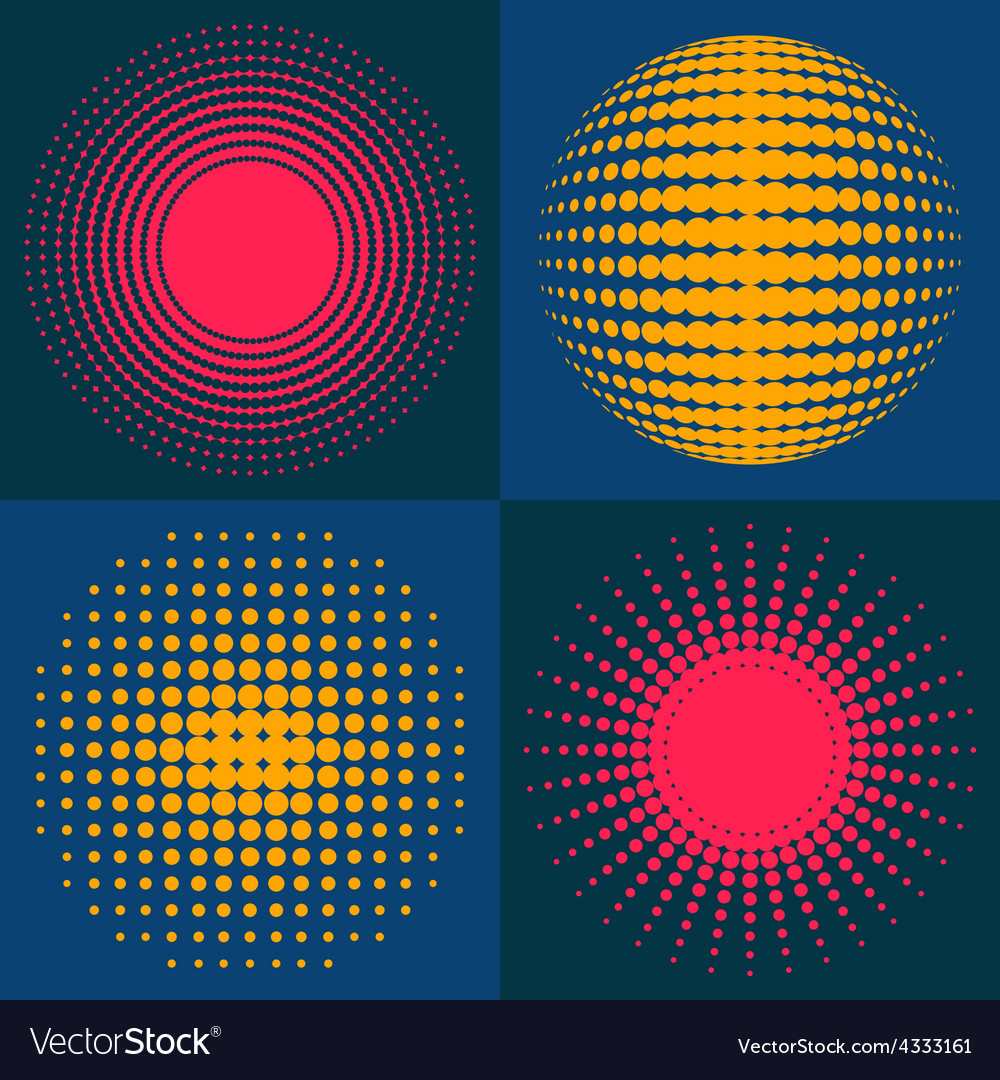Circle abstract halftone vector | Price: 1 Credit (USD $1)