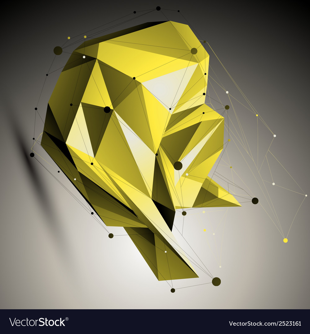 Colorful spatial technological shape polygonal vector | Price: 1 Credit (USD $1)