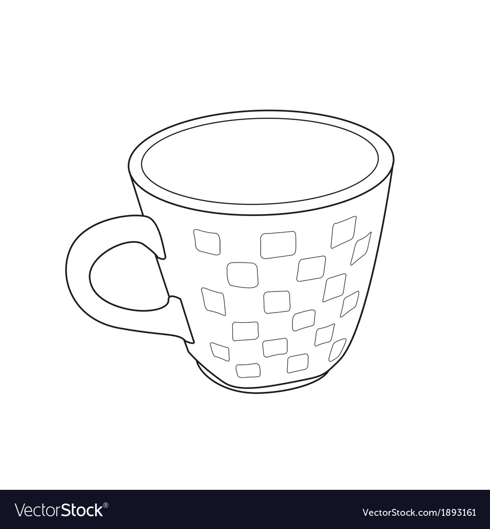 Cup outline vector | Price: 1 Credit (USD $1)