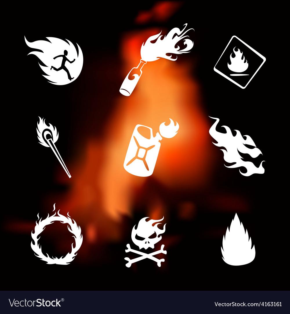 Fire set vector | Price: 1 Credit (USD $1)