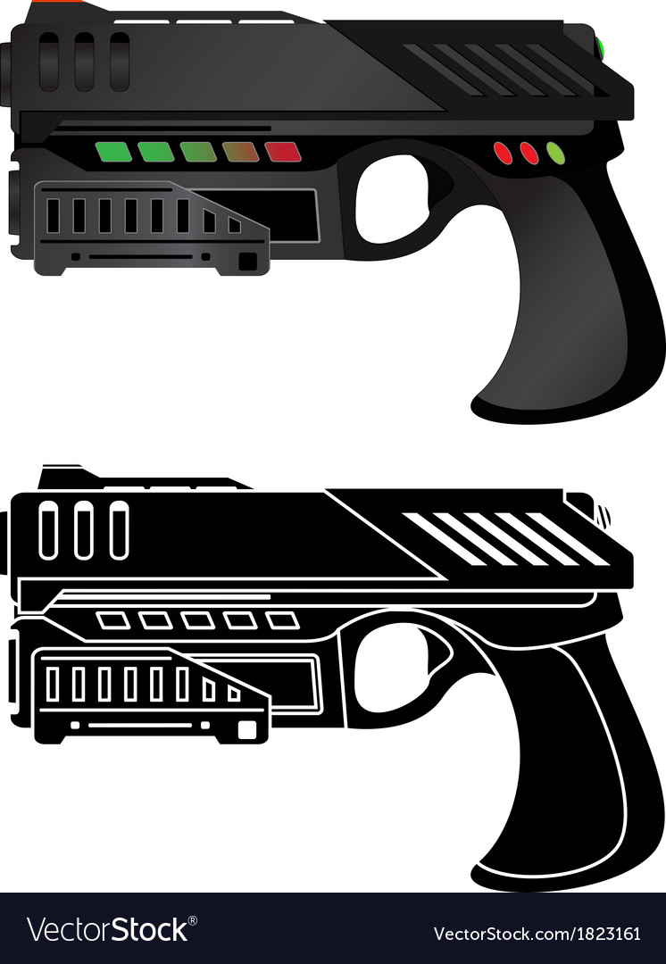 Futuristic pistol vector | Price: 1 Credit (USD $1)