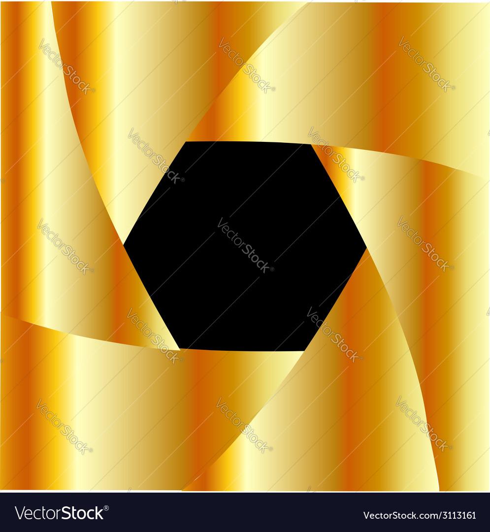 Golden shutter background vector | Price: 1 Credit (USD $1)