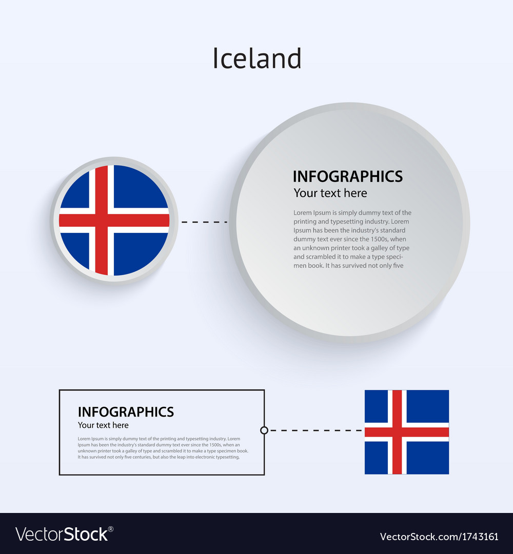 Iceland country set of banners vector | Price: 1 Credit (USD $1)