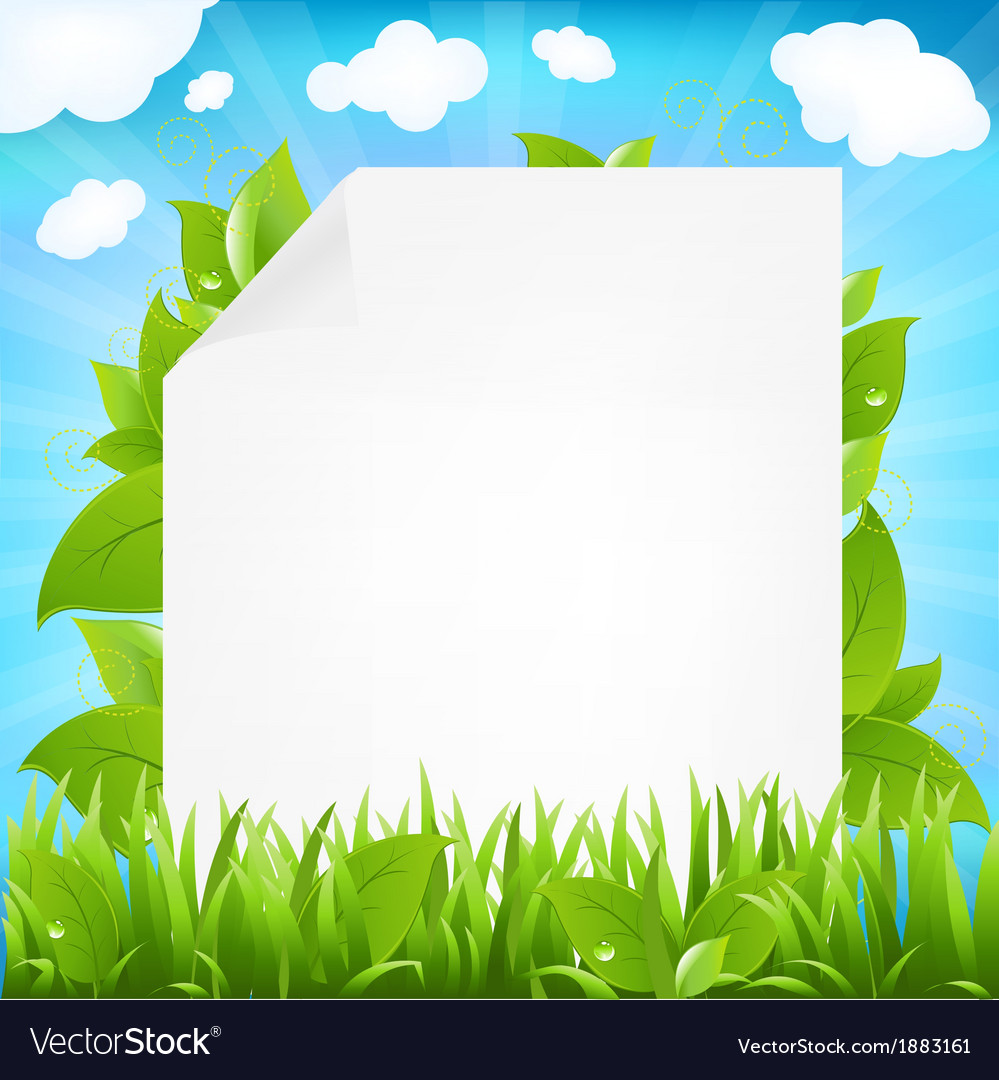 Paper with beams and sprout vector | Price: 1 Credit (USD $1)