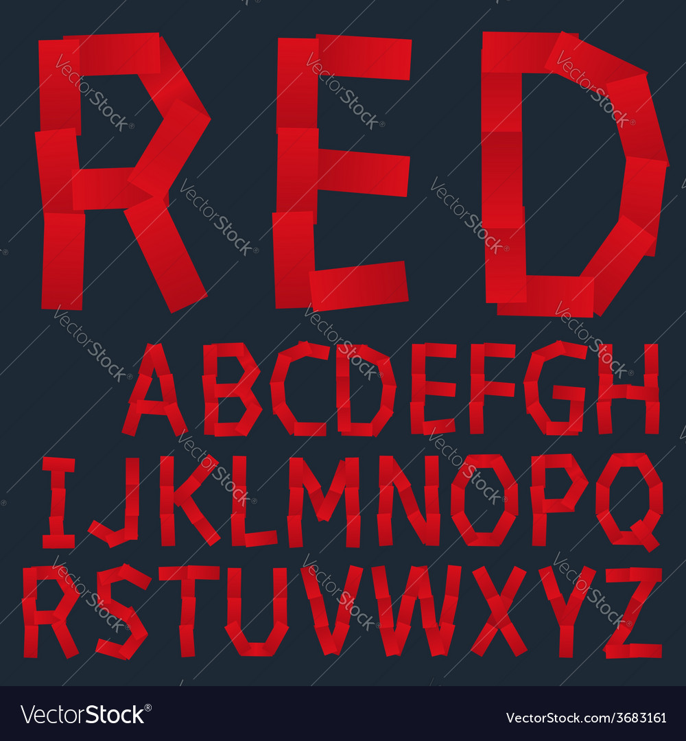 Red paper creative font vector | Price: 1 Credit (USD $1)
