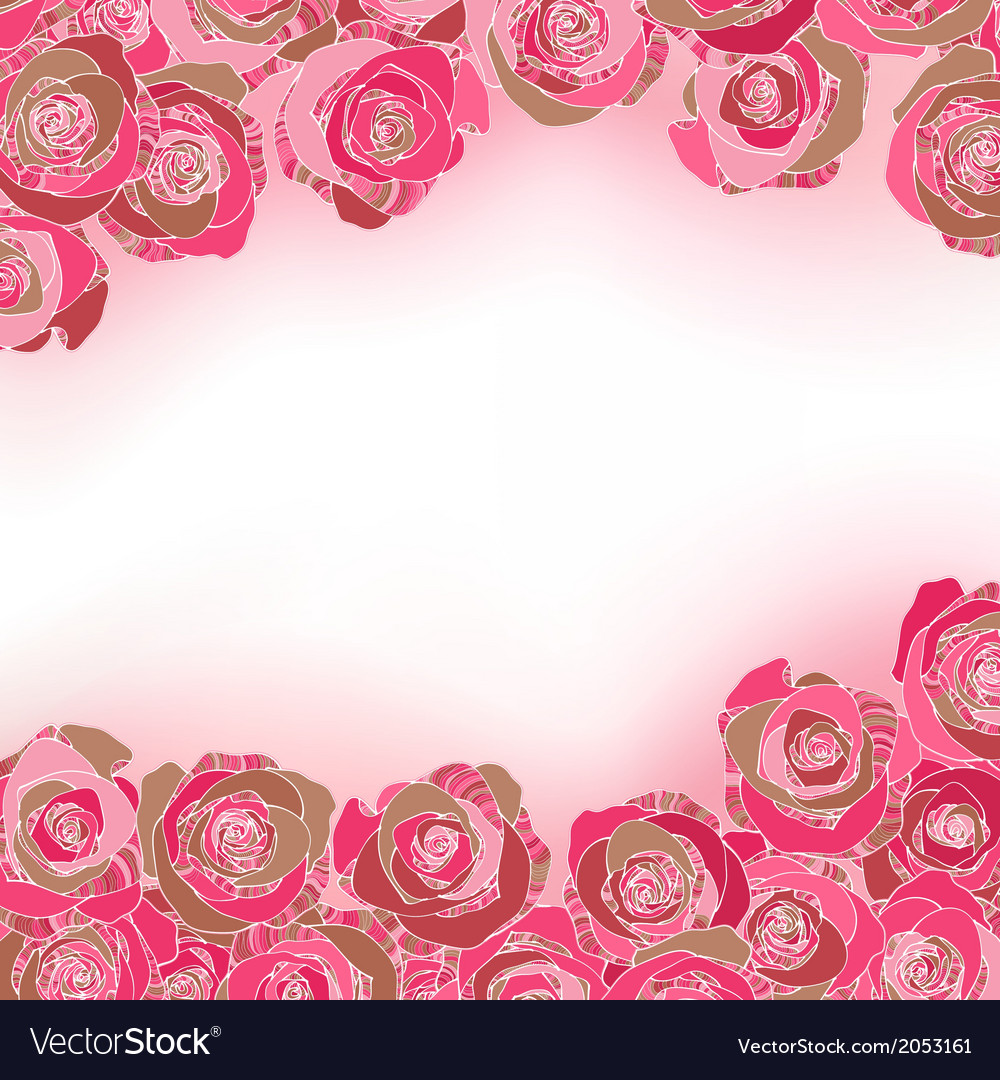 Rose background with copyspace vector | Price: 1 Credit (USD $1)