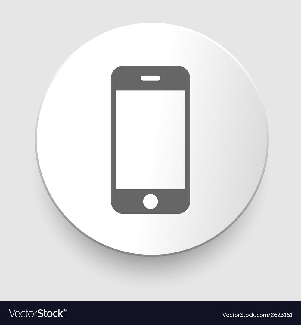 Smartphone gray icon vector | Price: 1 Credit (USD $1)