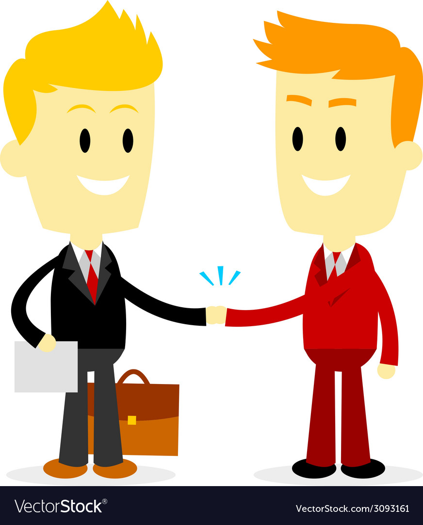 Two businessman making a deal vector | Price: 1 Credit (USD $1)