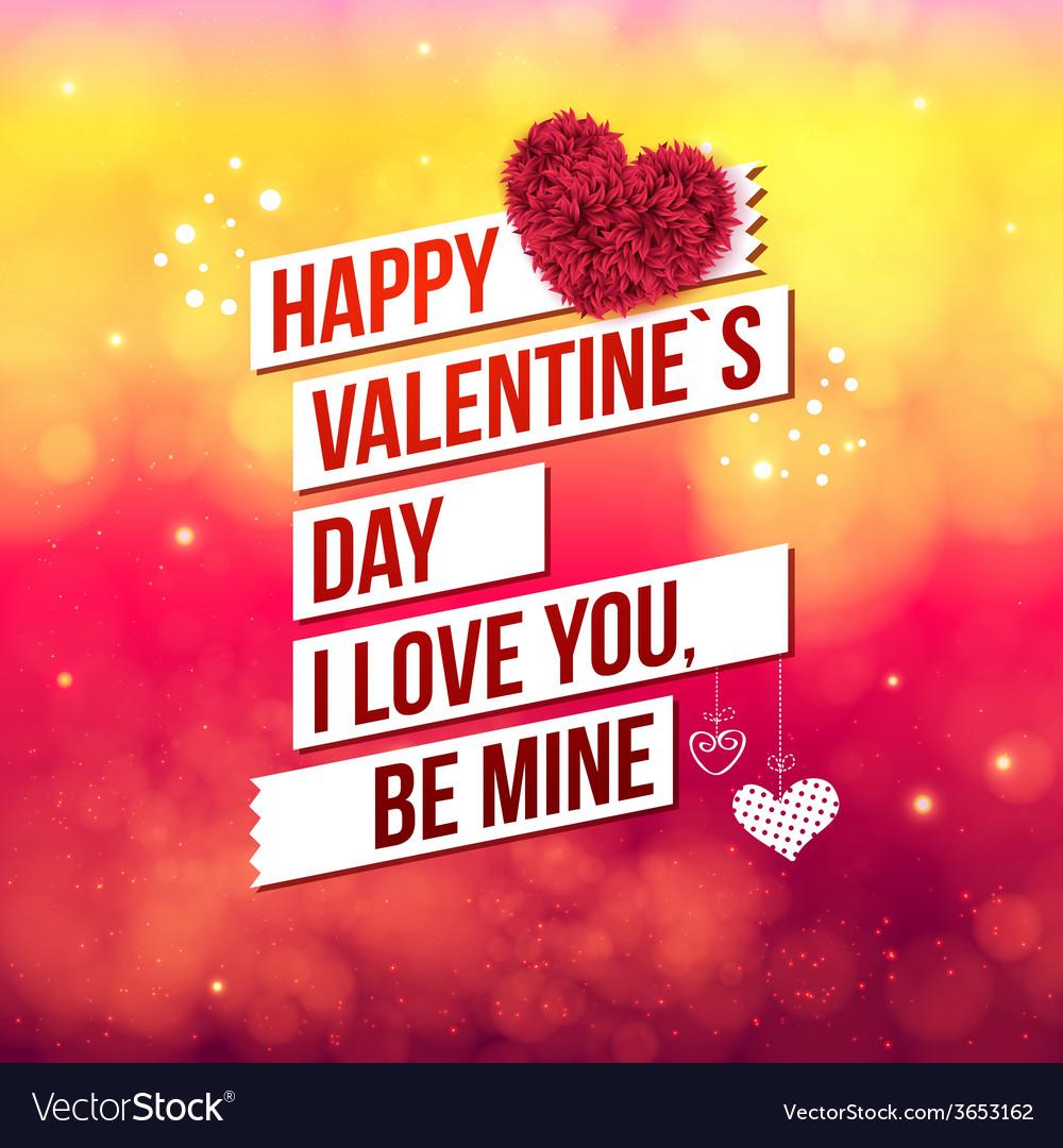 Attractive happy valentines day concept vector | Price: 1 Credit (USD $1)