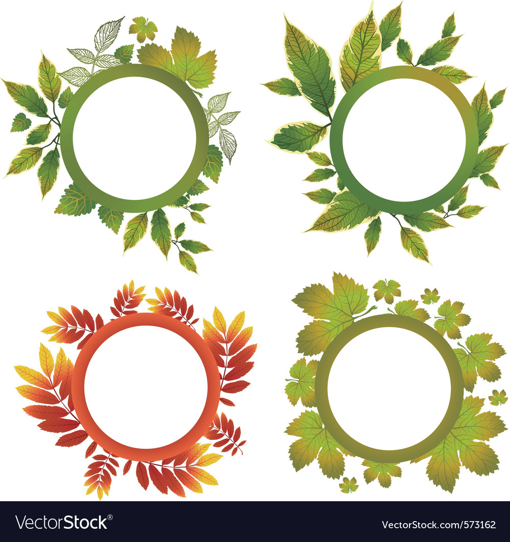 Autumn leafs design elements vector | Price: 1 Credit (USD $1)