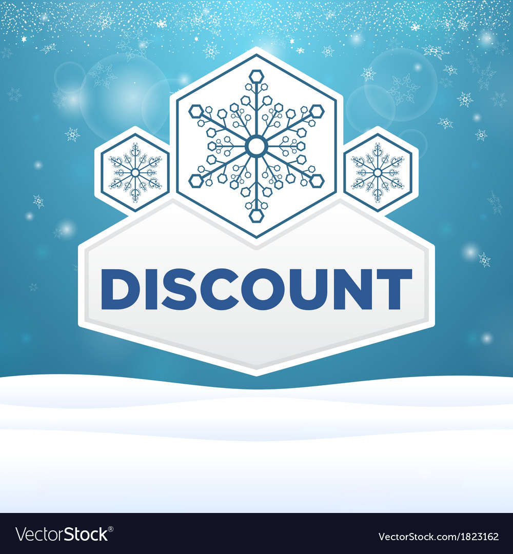Beautiful plate with snowflakes and inscription vector | Price: 1 Credit (USD $1)
