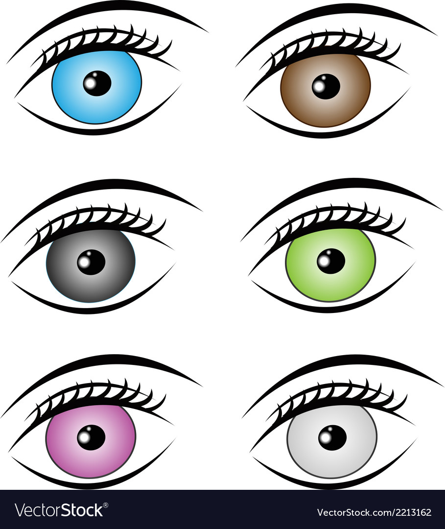 Beauty eyes style vector | Price: 1 Credit (USD $1)