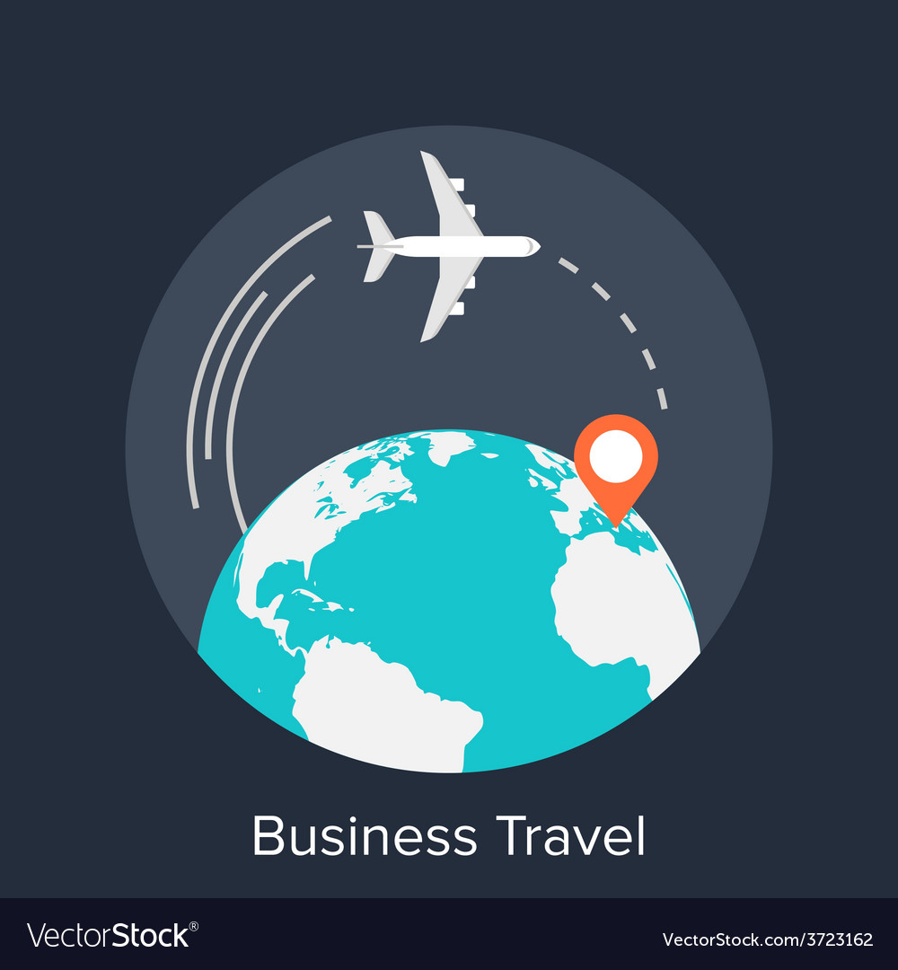 Business travel vector | Price: 1 Credit (USD $1)