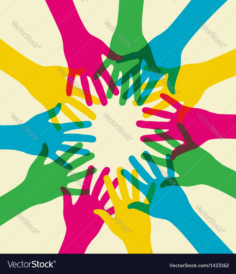 Colorful teamwork vector | Price: 1 Credit (USD $1)