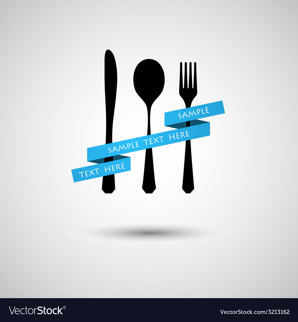 Cutlery with ribbon vector | Price: 1 Credit (USD $1)
