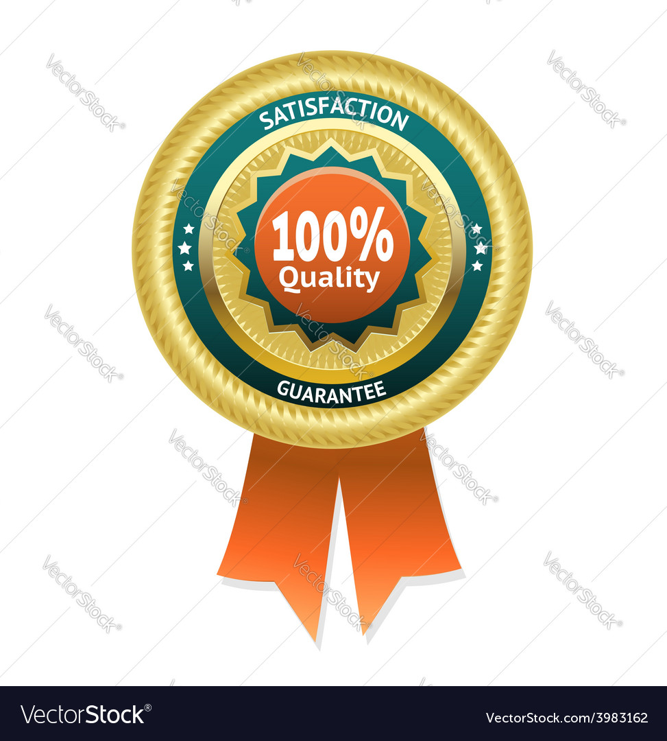 Satisfaction guarantee label eps 10 vector | Price: 1 Credit (USD $1)