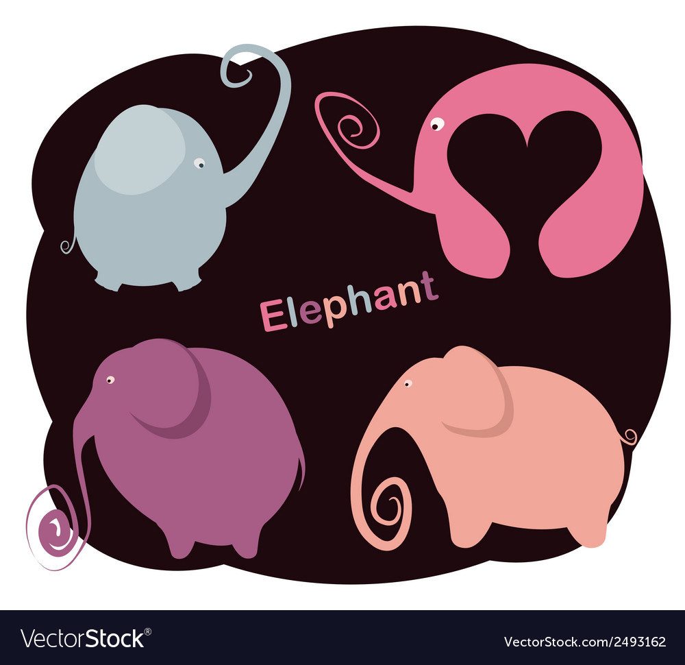 Set elephants vector | Price: 1 Credit (USD $1)