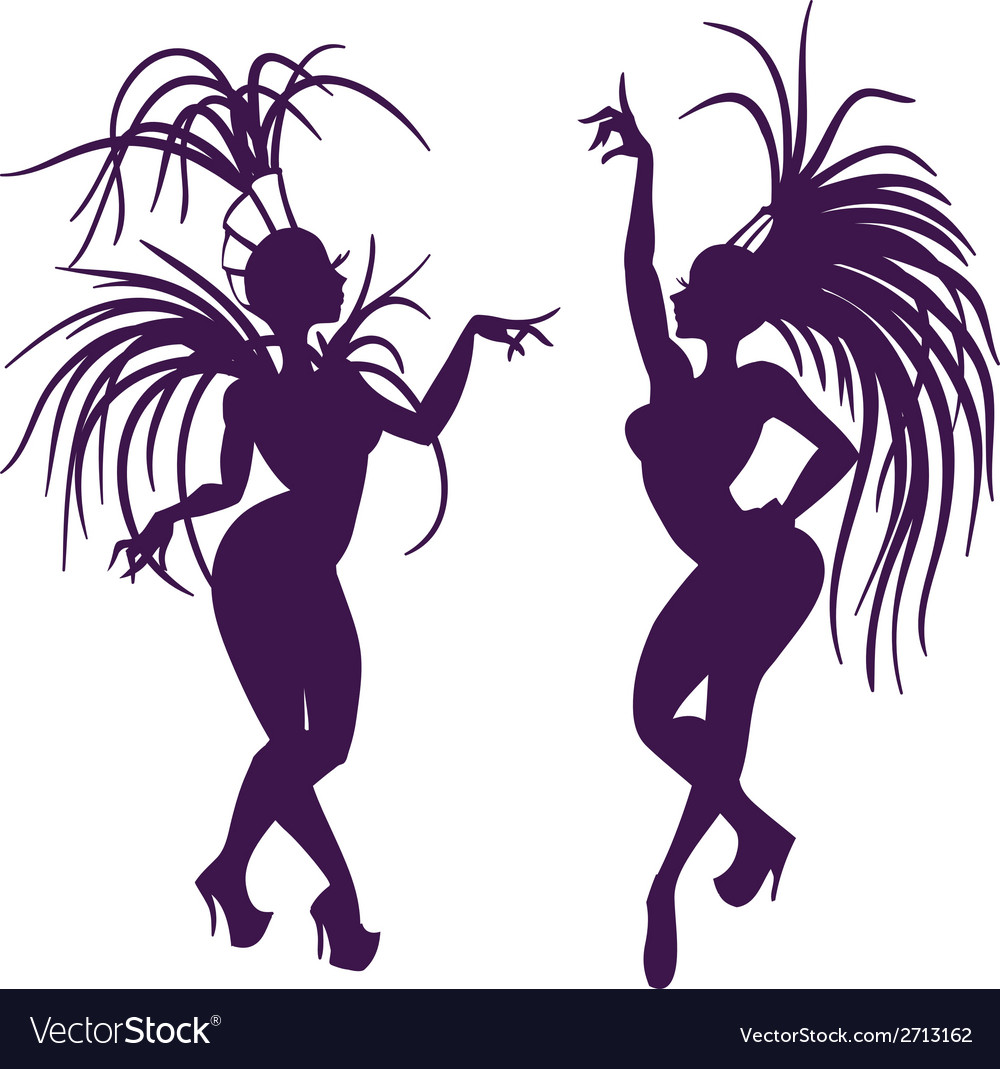 Silhouettes of attractive samba queen vector | Price: 1 Credit (USD $1)