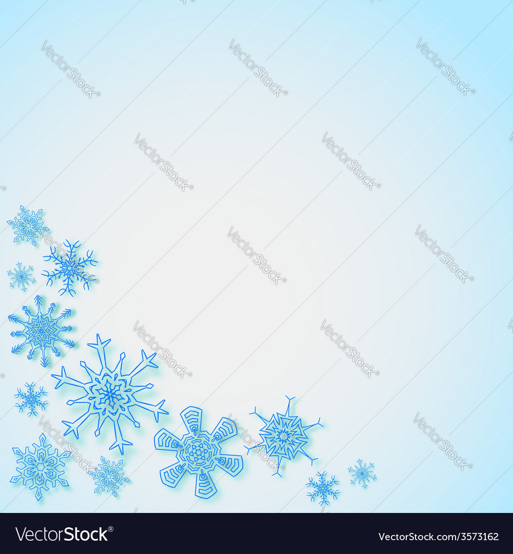 Snowflakes in the corners vector | Price: 1 Credit (USD $1)