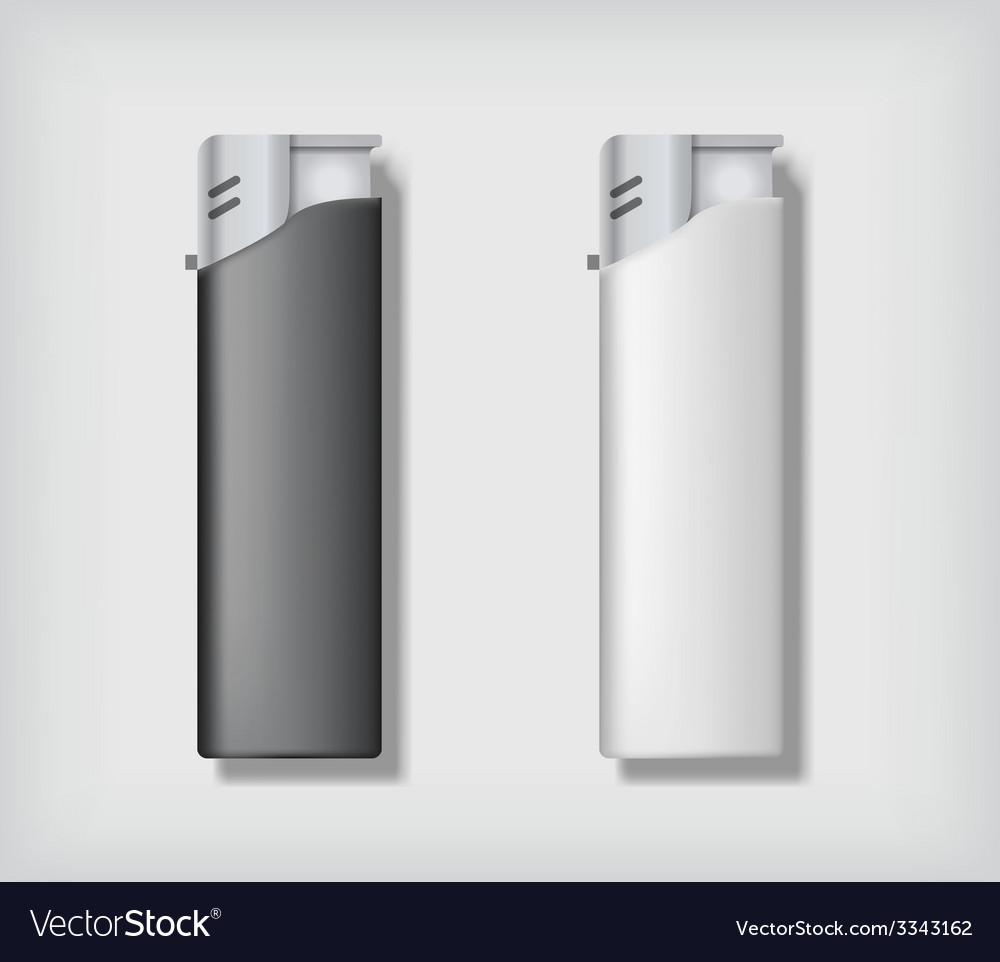 Two lighters mockup vector | Price: 1 Credit (USD $1)