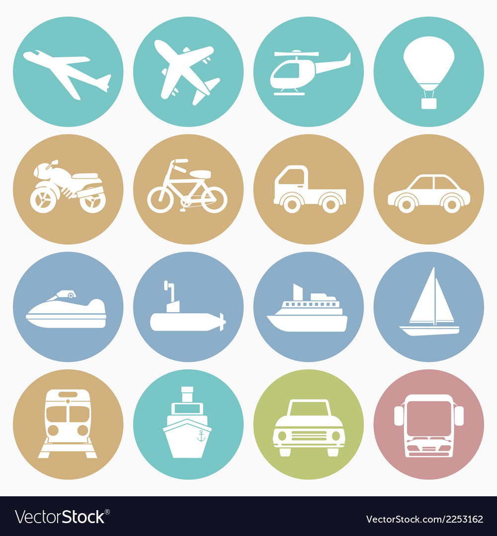 White icons vehicle vector | Price: 1 Credit (USD $1)