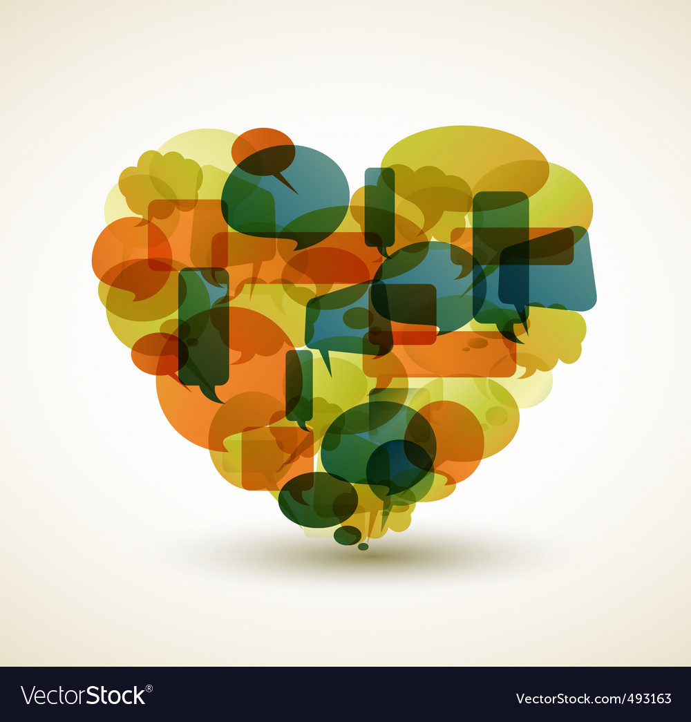 Cartoon bubble heart vector | Price: 1 Credit (USD $1)