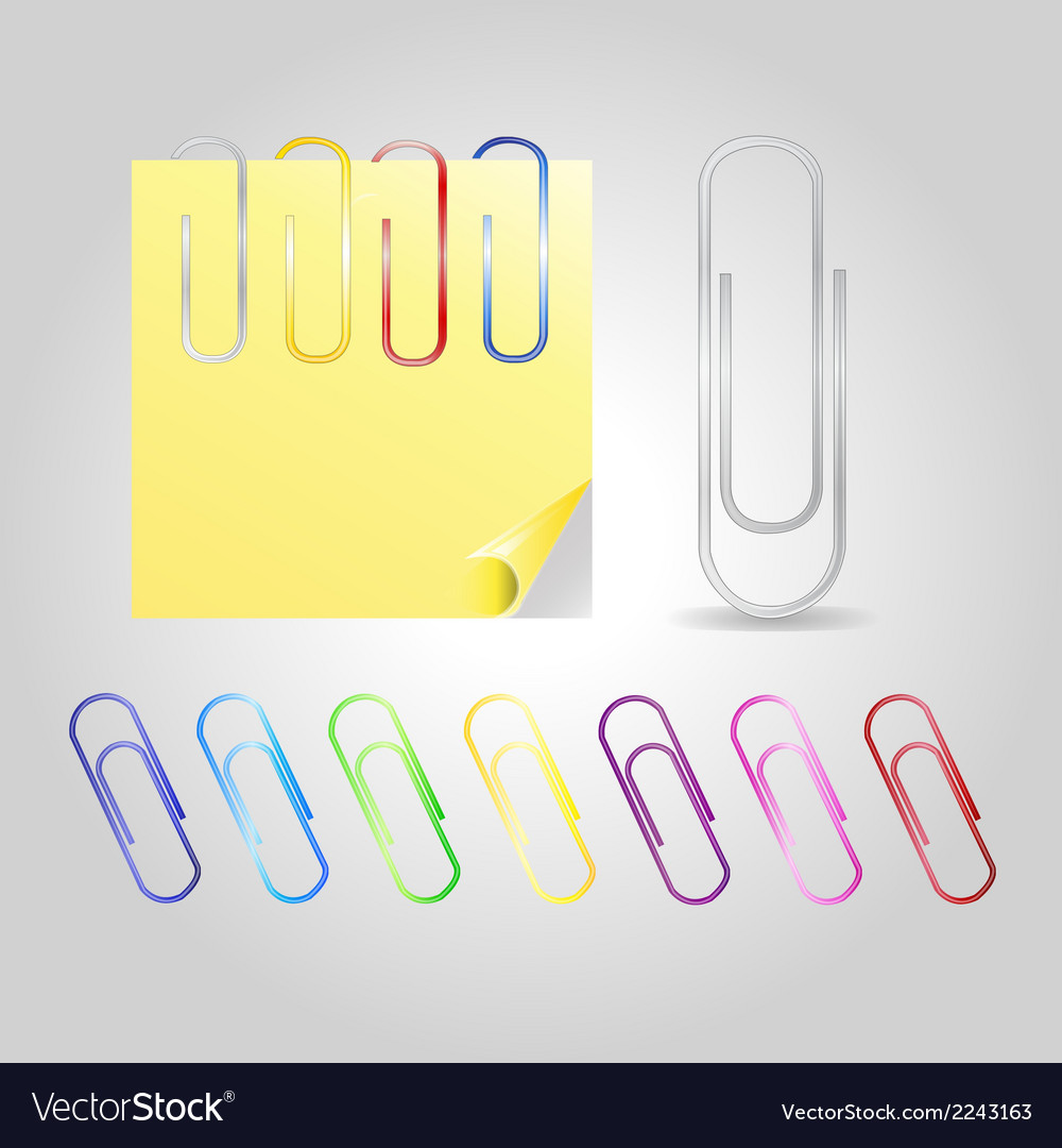 Colofrul paper clips vector | Price: 1 Credit (USD $1)