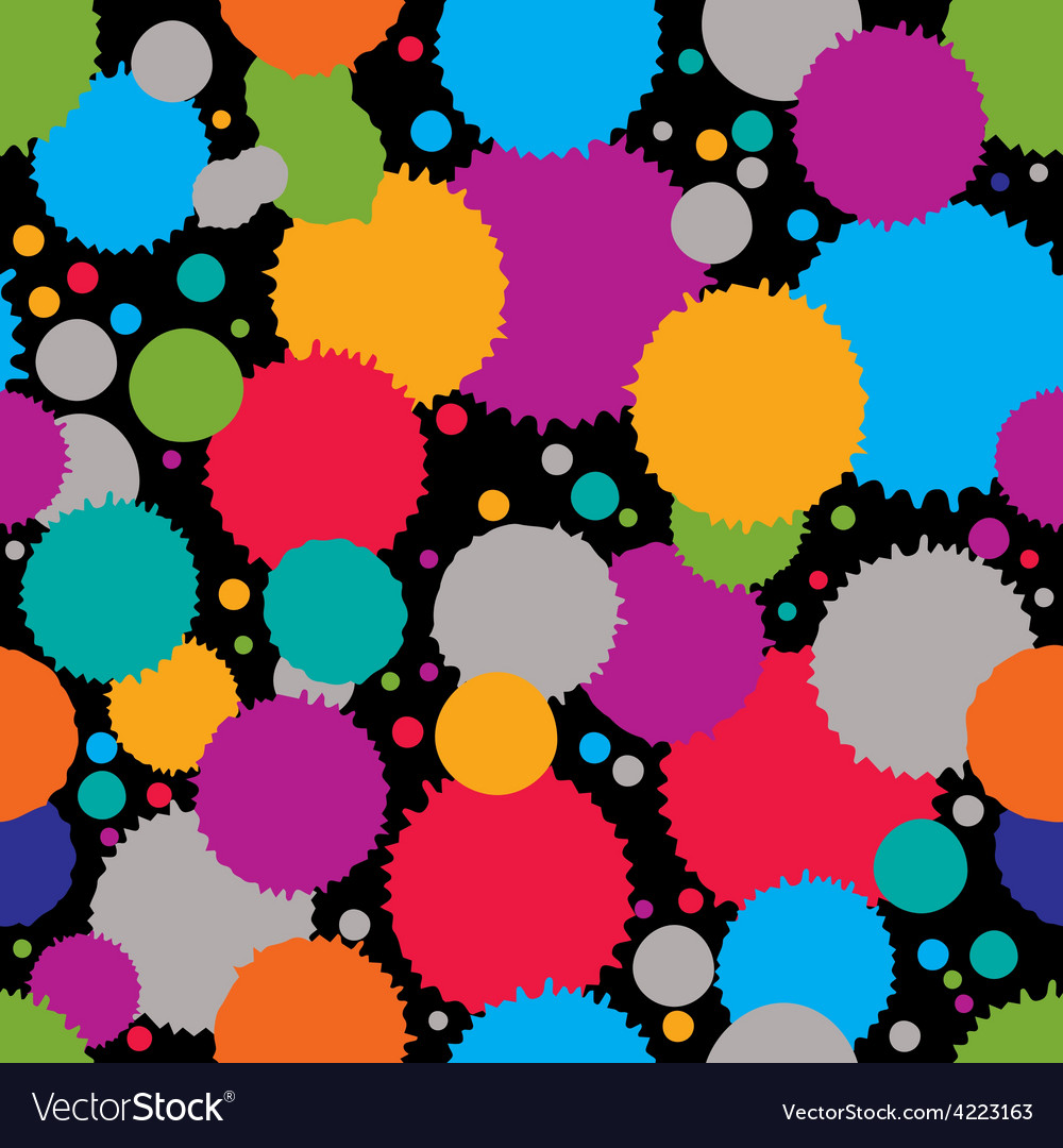 Colorful splattered web design repeat pattern art vector | Price: 1 Credit (USD $1)