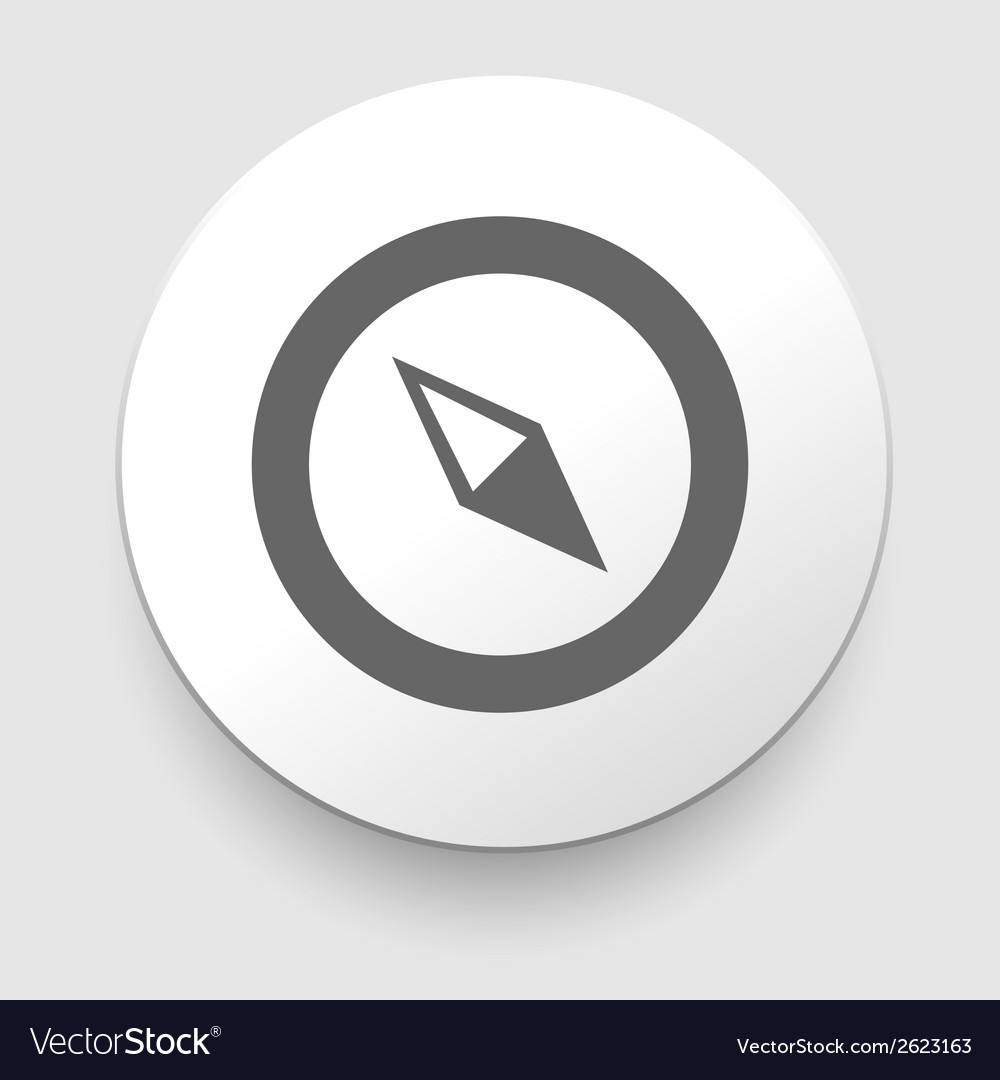 Compass icon navigation vector | Price: 1 Credit (USD $1)