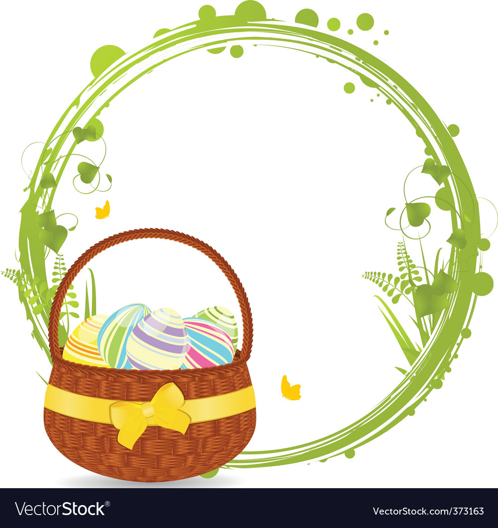 Easter basket border vector | Price: 1 Credit (USD $1)