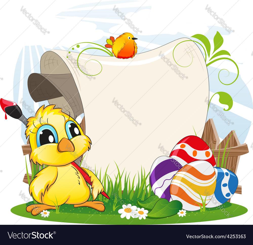 Easter invitation vector   Price: 3 Credit (USD $3)