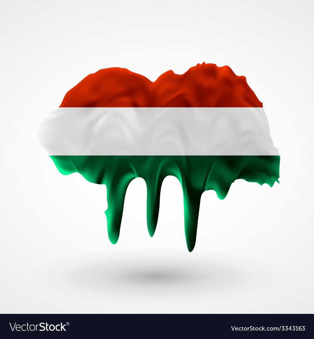 Flag of hungary painted colors vector   Price: 1 Credit (USD $1)