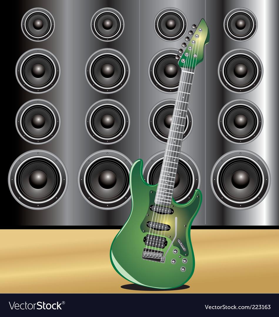 Guitar loudspeaker vector | Price: 1 Credit (USD $1)