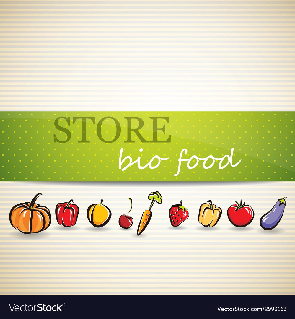 Restaurant menu design with fruit and vegetables vector | Price: 1 Credit (USD $1)