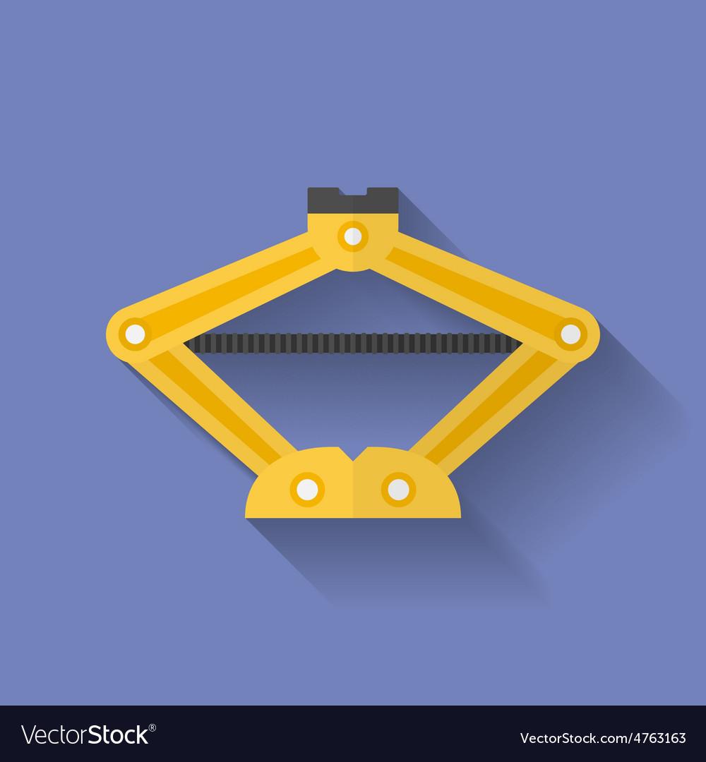 Screw jack icon flat style vector | Price: 1 Credit (USD $1)
