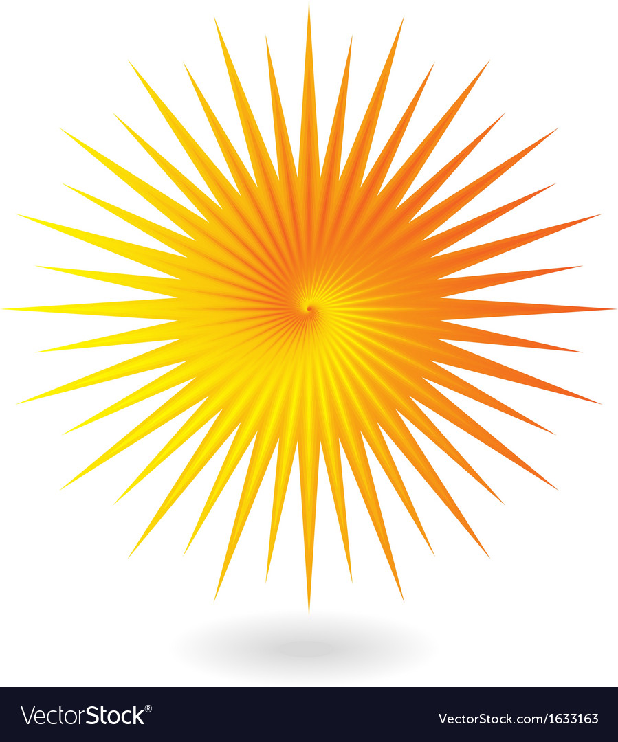 Yellow orange sun vector | Price: 1 Credit (USD $1)
