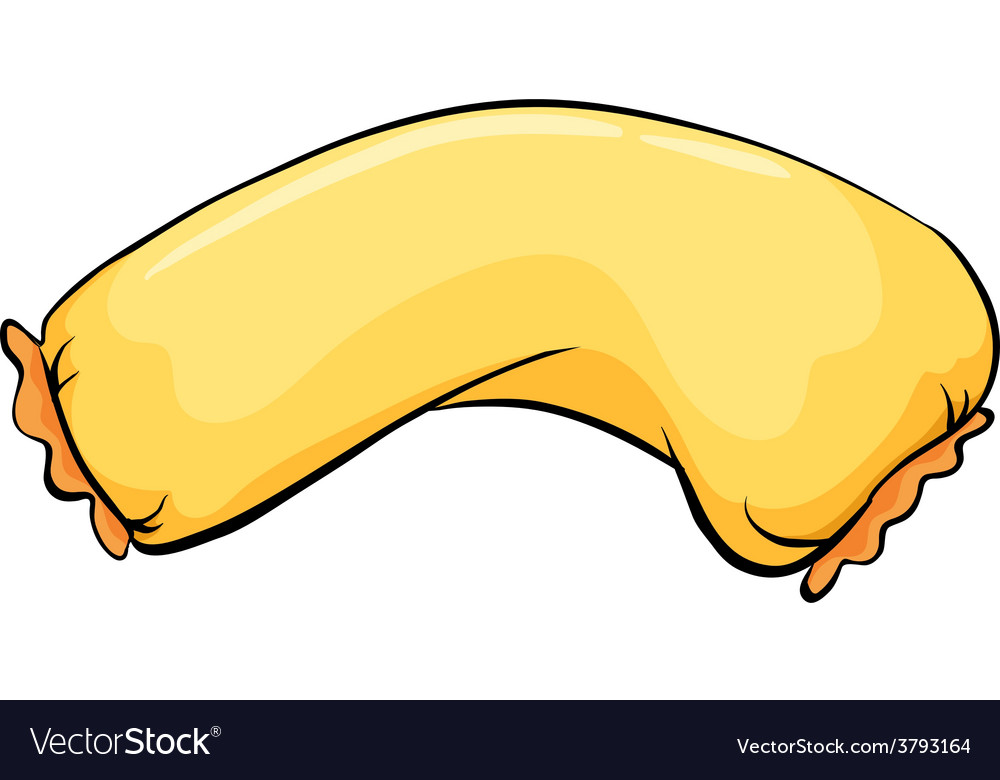 A long yellow pillow vector