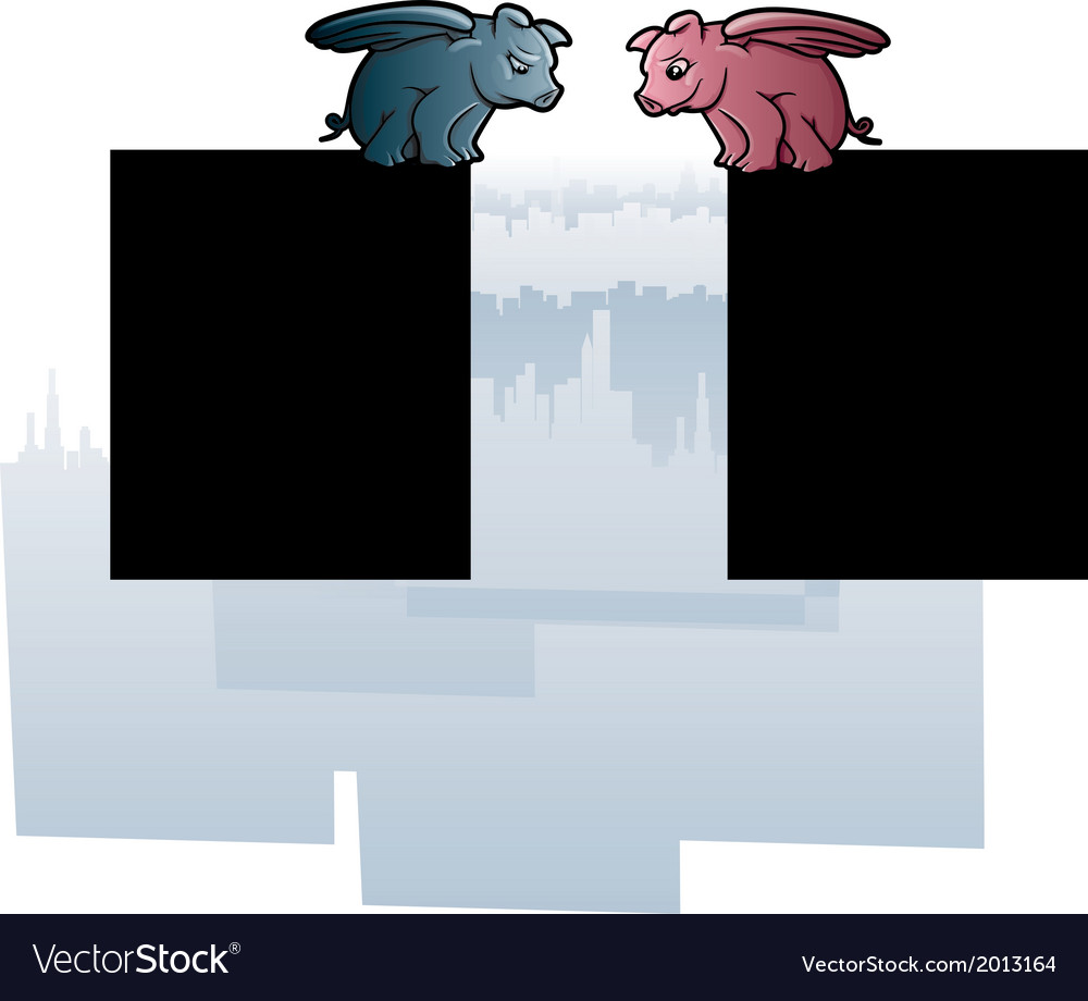 Flying pigs vector