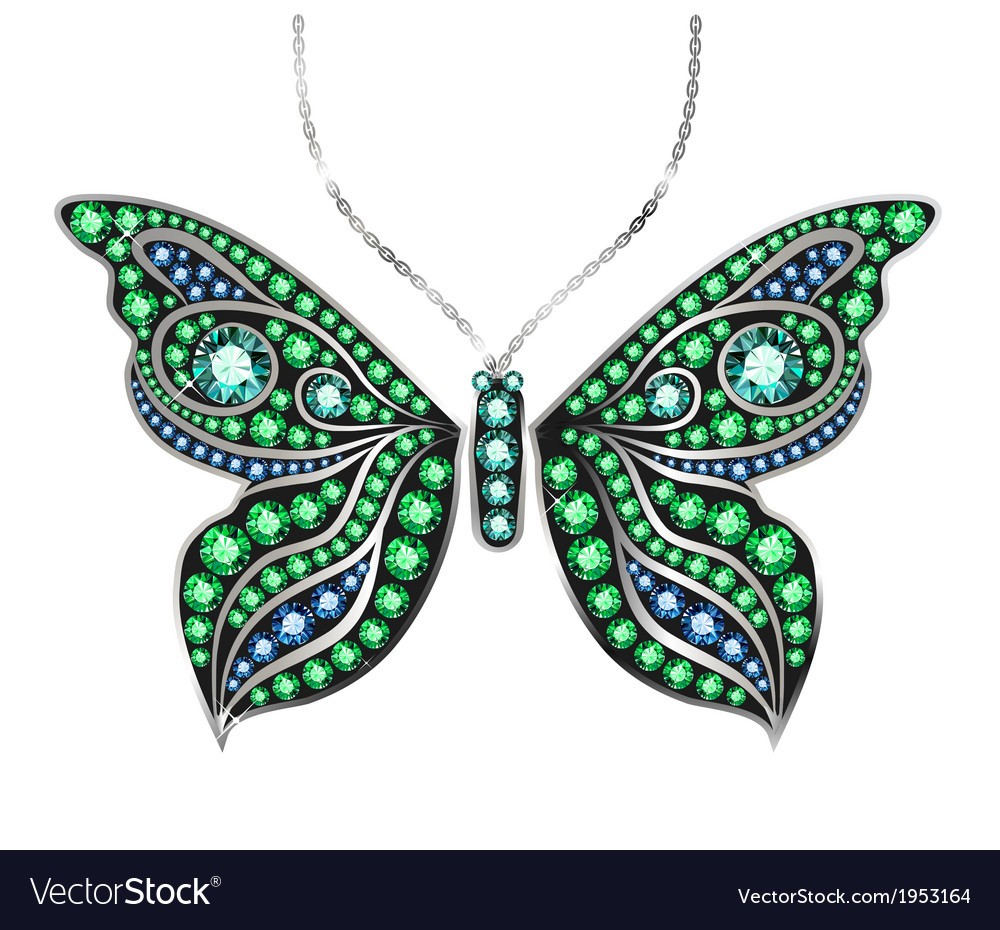 Gem butterfly vector | Price: 1 Credit (USD $1)