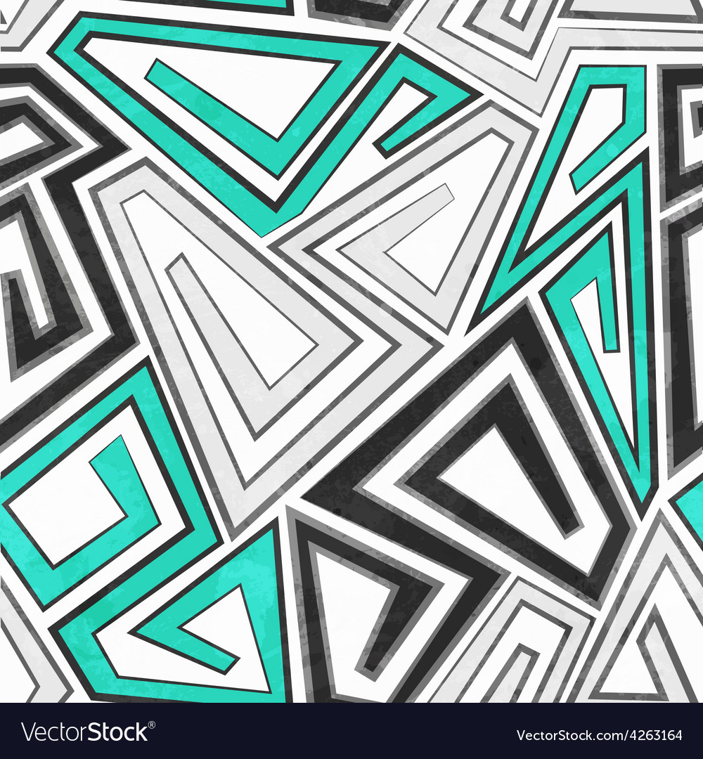 Gray geometric seamless pattern with grunge effect vector | Price: 1 Credit (USD $1)