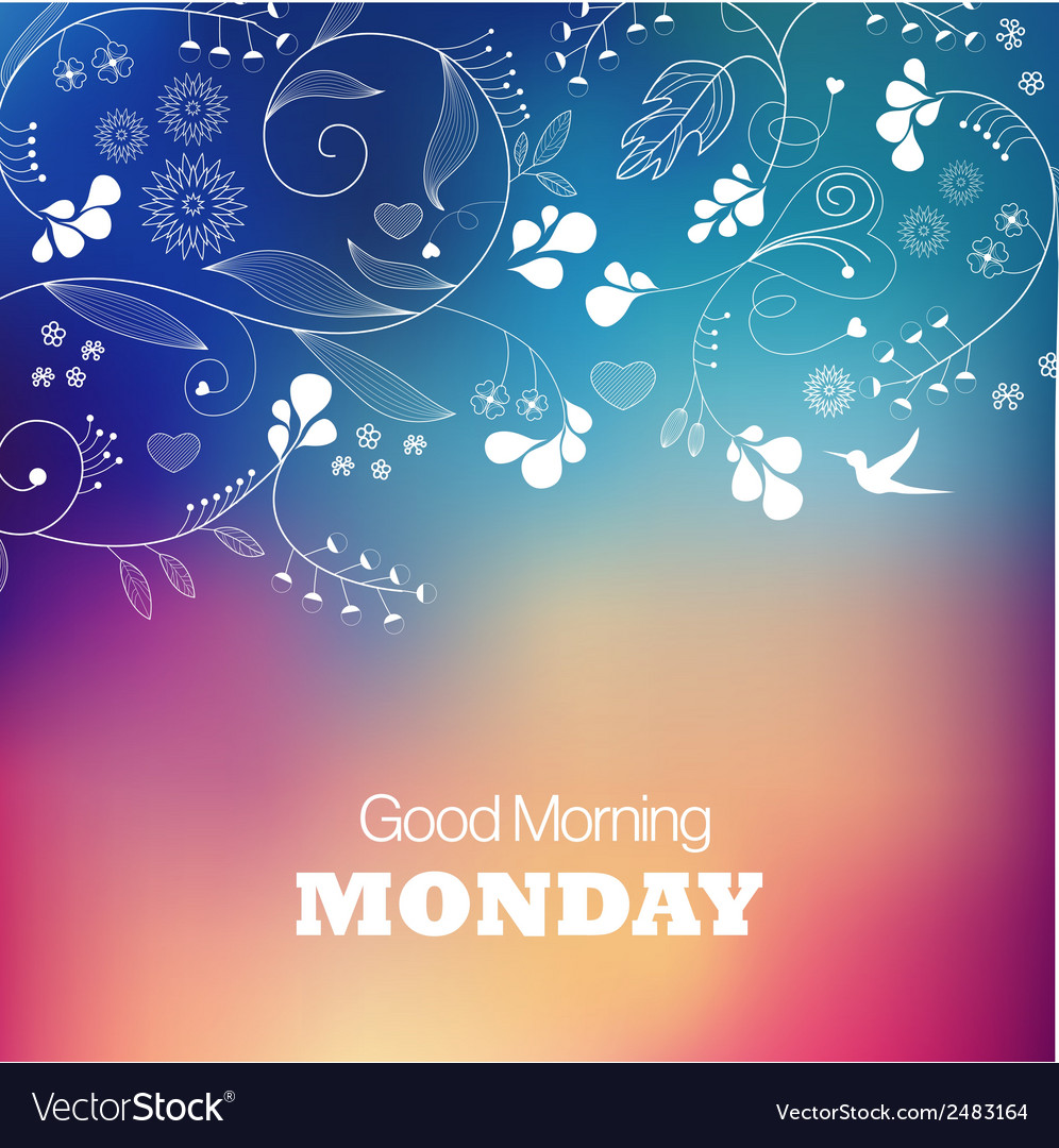 Monday good morning vector | Price: 1 Credit (USD $1)
