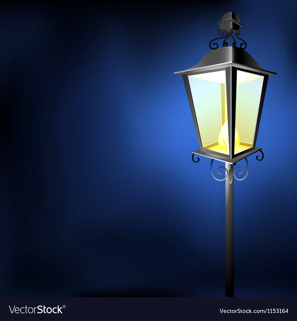 Old vintage street lamp in the dark vector | Price: 1 Credit (USD $1)