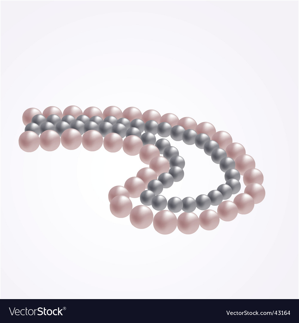 Pearl beads vector | Price: 1 Credit (USD $1)