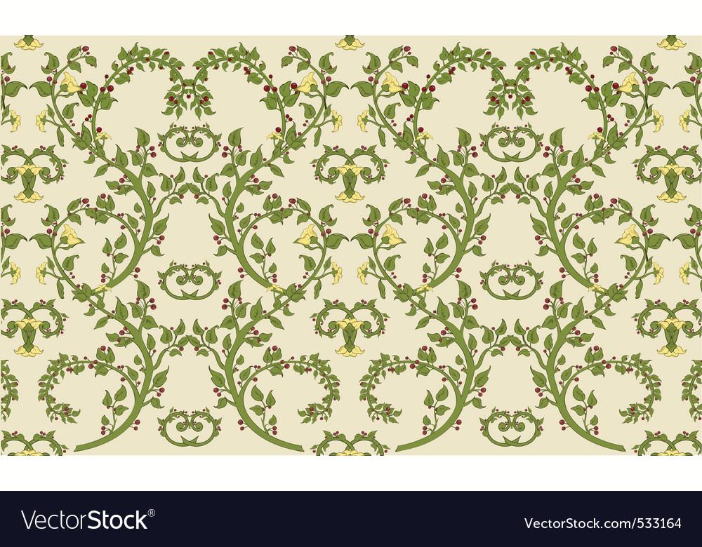 Rococo textile design vintage vector | Price: 1 Credit (USD $1)