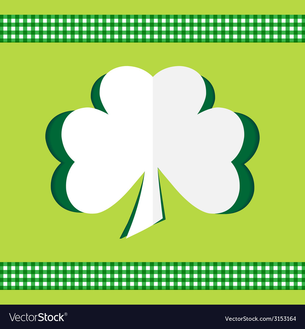Shamrock card paper vector | Price: 1 Credit (USD $1)
