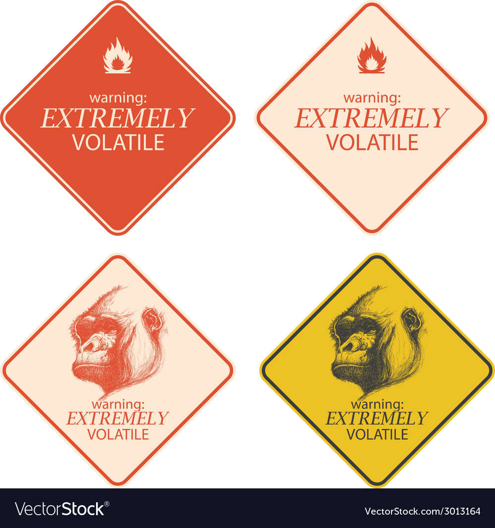 Yellow warning and danger signs collection eps8 vector | Price: 1 Credit (USD $1)