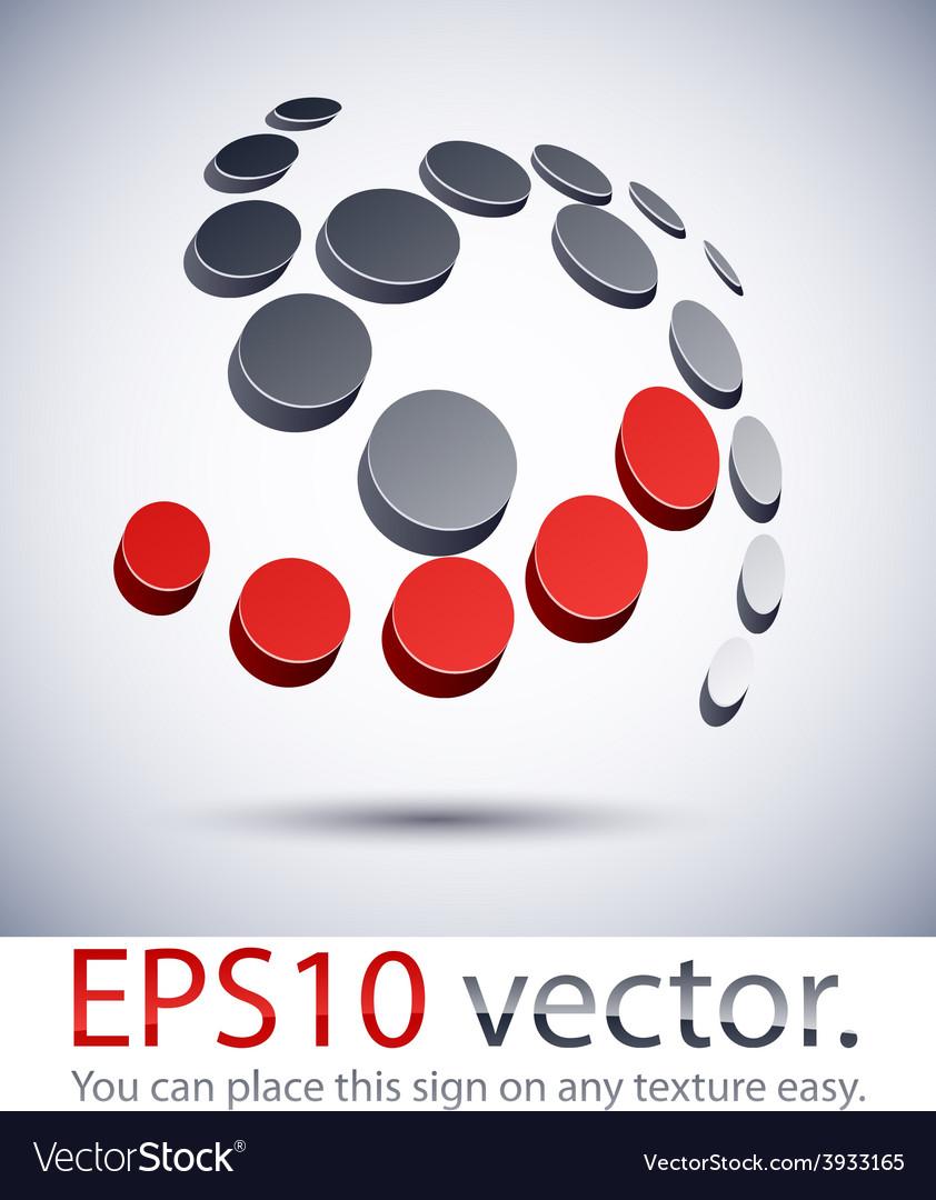 3d modern scroll logo icon vector | Price: 1 Credit (USD $1)