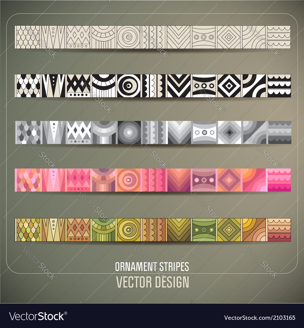 Abstract ornamental stripes vector | Price: 1 Credit (USD $1)